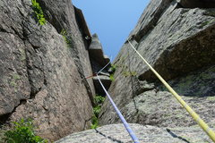 Rock Climbing Photo: Consolation Prize, higher up on P7 (shared with La...