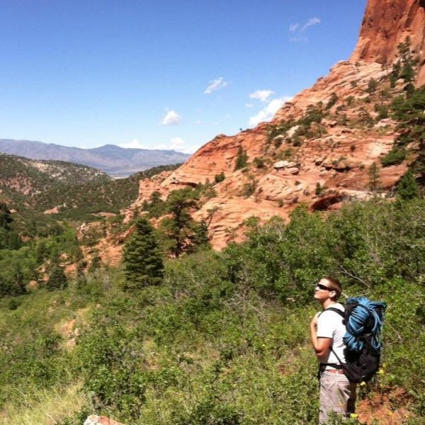 Rock Climbing Photo: Hiking out of Kolob