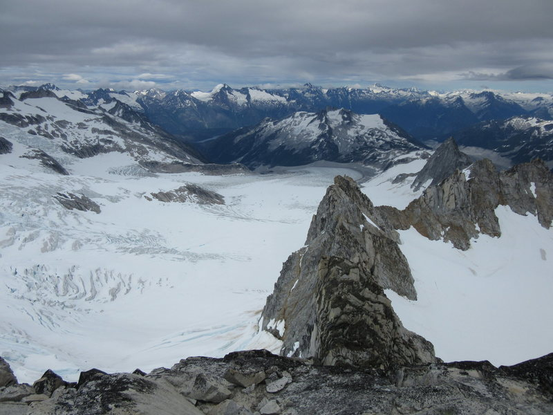 The Tellot Glacier and surrounding peaks from the top of Claw Peak.