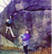 Rock Climbing Photo: A bad, blurry Polaroid photo of Bob Van Belle on H...