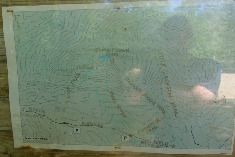 Map of area. Sorry for bad quality. It's a picture from the map at the trail head.