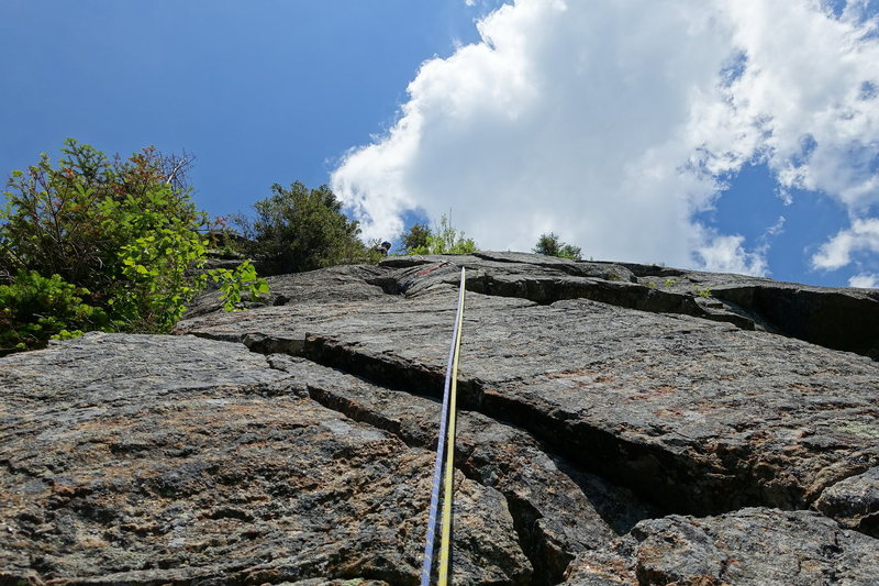 Rock Climbing Photo: AMC Route Variation, higher up on P1