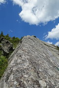 Rock Climbing Photo: AMC Route Variation, higher up on P3.