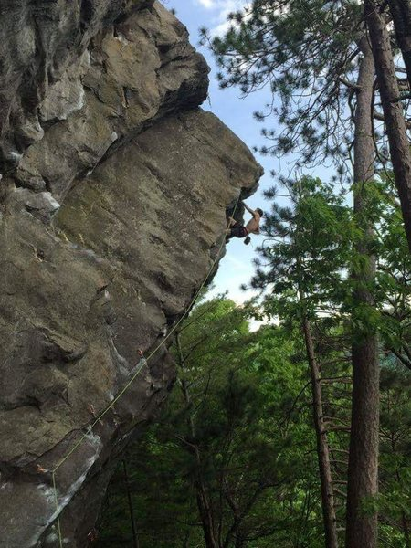 Rock Climbing Photo: On the top section