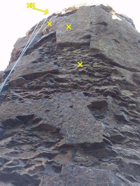 Rock Climbing Photo: Notch route