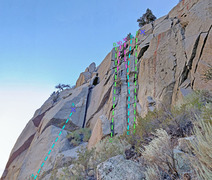 Rock Climbing Photo: Rebuffat sector : routes Left ... A. 5face1 (with ...