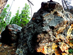 Rock Climbing Photo: Two boulders...