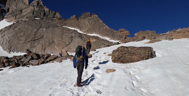 Longs Peak, Keyhole Ridge with Jordon G, and Ty.  June 16th. 2016.
