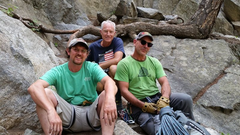 Climbing in Boulder canyon with old friends - I mean really old friends.  Doug Donato, and John Durr. July 4th 2016.