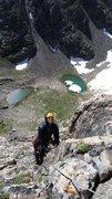 Rock Climbing Photo: Direct South Ridge of Notchtop in RMNP with Jordon...