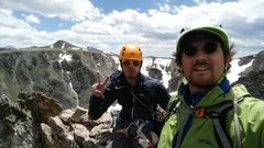 Rock Climbing Photo: Direct South Ridge of Notchtop in RMNP with Jordon...