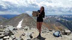 Rock Climbing Photo: Araceli on the kelso Ridge of Torreys Peak.  Her f...