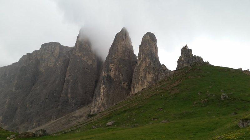 Rock Climbing Photo: Sella group.  First, second, and third Sella Tower...