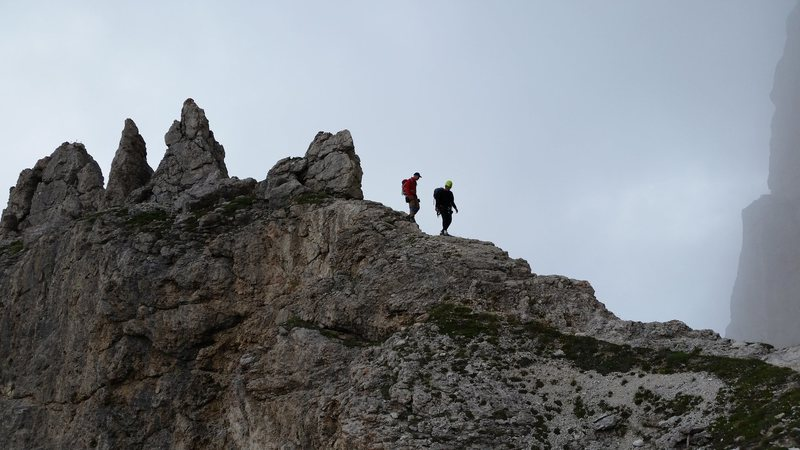 Dolomites, Italy with Mike C, and Doug D. July 18th - August 4th, 2016. Descent from the First Sella Tower.