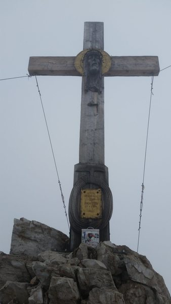 Dolomites, Italy with Mike C, and Doug D. July 18th - August 4th, 2016. Tre Cime area. Spent a rainy day hiking this very interesting Via Ferrata that follows long, steep, dark, tunnels up through a complex mountain ridge system then on to a cool summit. WWI was a crazy time here. Monte Paterno Via Ferrata.