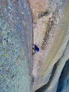 Rock Climbing Photo: The unstoppable George Lowe III on the 11 crack pi...