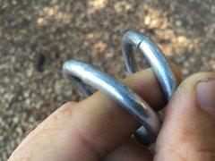 Rock Climbing Photo: Bunk rings