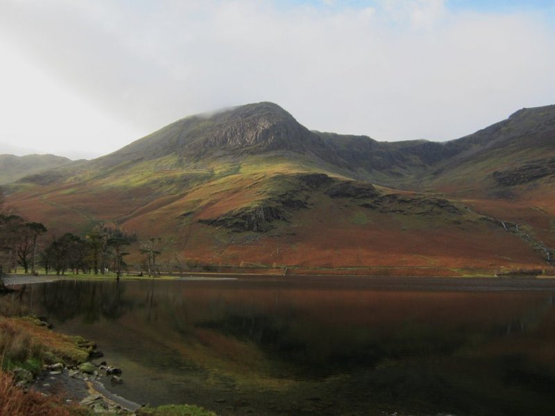 Buttermere lake .. with High Crag Birkness Coombe