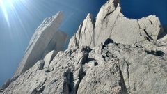 Rock Climbing Photo: View of the left side traverse alternative to pass...