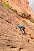 Rock Climbing Photo: palming through the crux