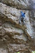 Rock Climbing Photo: post crux fun