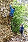 Rock Climbing Photo: jerm climbing, me belaying