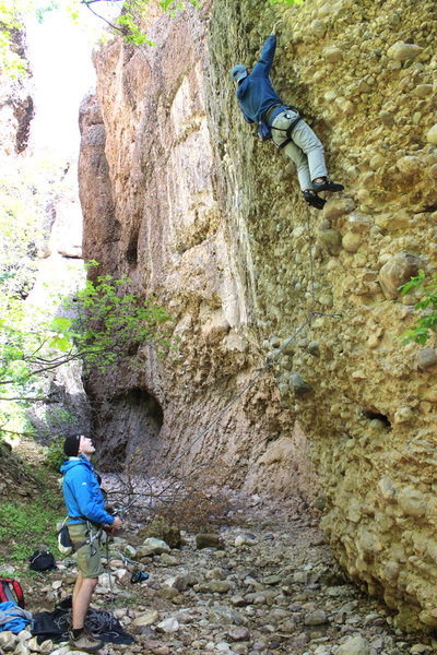 Rock Climbing Photo: climbing near the entry to the canyon... this is t...