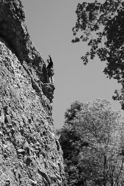 Rock Climbing Photo: a Jeremy solute for the coolest feature on the wal...