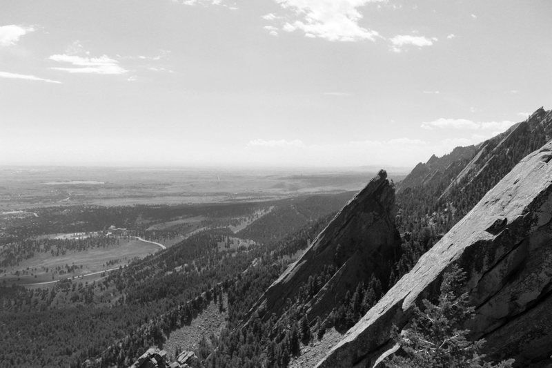 Rock Climbing Photo: Looking south from the 1st.
