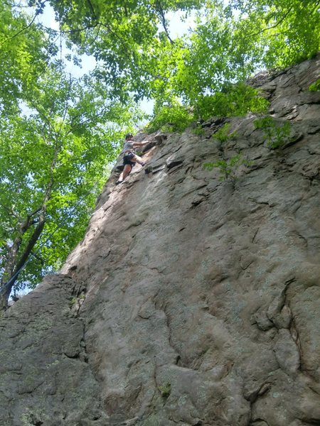 Rock Climbing Photo: Almost at the top! Two bolts at the top.