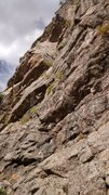 Rock Climbing Photo: Pitch one climbed from the lower-right corner of t...