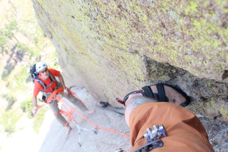 Rock Climbing Photo: mid lead selfie