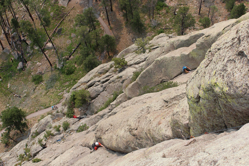 Rock Climbing Photo: El cracko and soler getting climbed