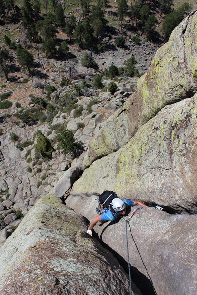 Keith on the crux pitch