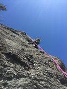 Rock Climbing Photo: Kris equipping