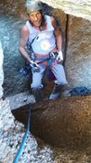 Rock Climbing Photo: Me at the start of Cave Crack