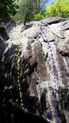 Rock Climbing Photo: A- Miss Baldy 5.10a B- Apyrexie 5.11a