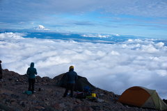 Rock Climbing Photo: 9500 Camp- small, rocky tent platforms, sometimes ...