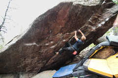 Rock Climbing Photo: A few moves into the MSB Crack.