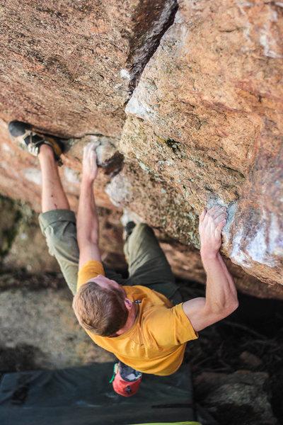 Getting the key heel mid-problem.<br> <br> Photo by Lori Mathews.