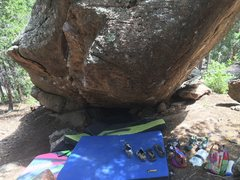 """Rock Climbing Photo: A view of """"The Clipper"""" project, which s..."""