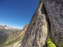 Rock Climbing Photo: 2nd Pitch, super fun crack