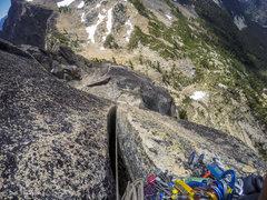 Rock Climbing Photo: Top of the bear hug on pitch 4