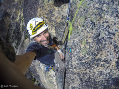 Rock Climbing Photo: I decided to belay from the top of the bear hug on...
