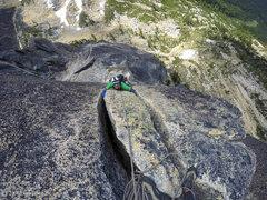 Rock Climbing Photo: Bear Hug, 4th pitch