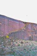 Rock Climbing Photo: FA.Pearly Gates Lost World Butte . Barlett Flat .M...