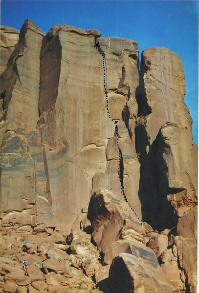 FA &quot@SEMICOLON@Golden Brown&quot@SEMICOLON@ . Lost World Butte .Bartlett Flat. Moab with Andy Ross.2000.