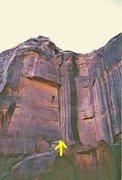 "Rock Climbing Photo: FA. ""IF"" Lost World Butte .Bartlett Flat..."