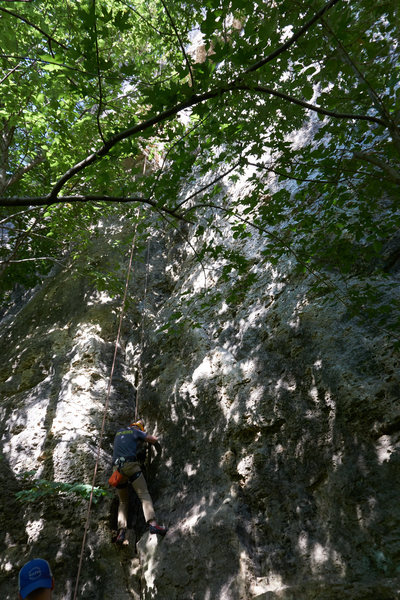 Attempting to climb Monster Crack