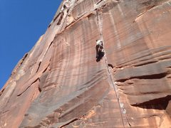 Rock Climbing Photo: Middle Crack. PC Leah Linse